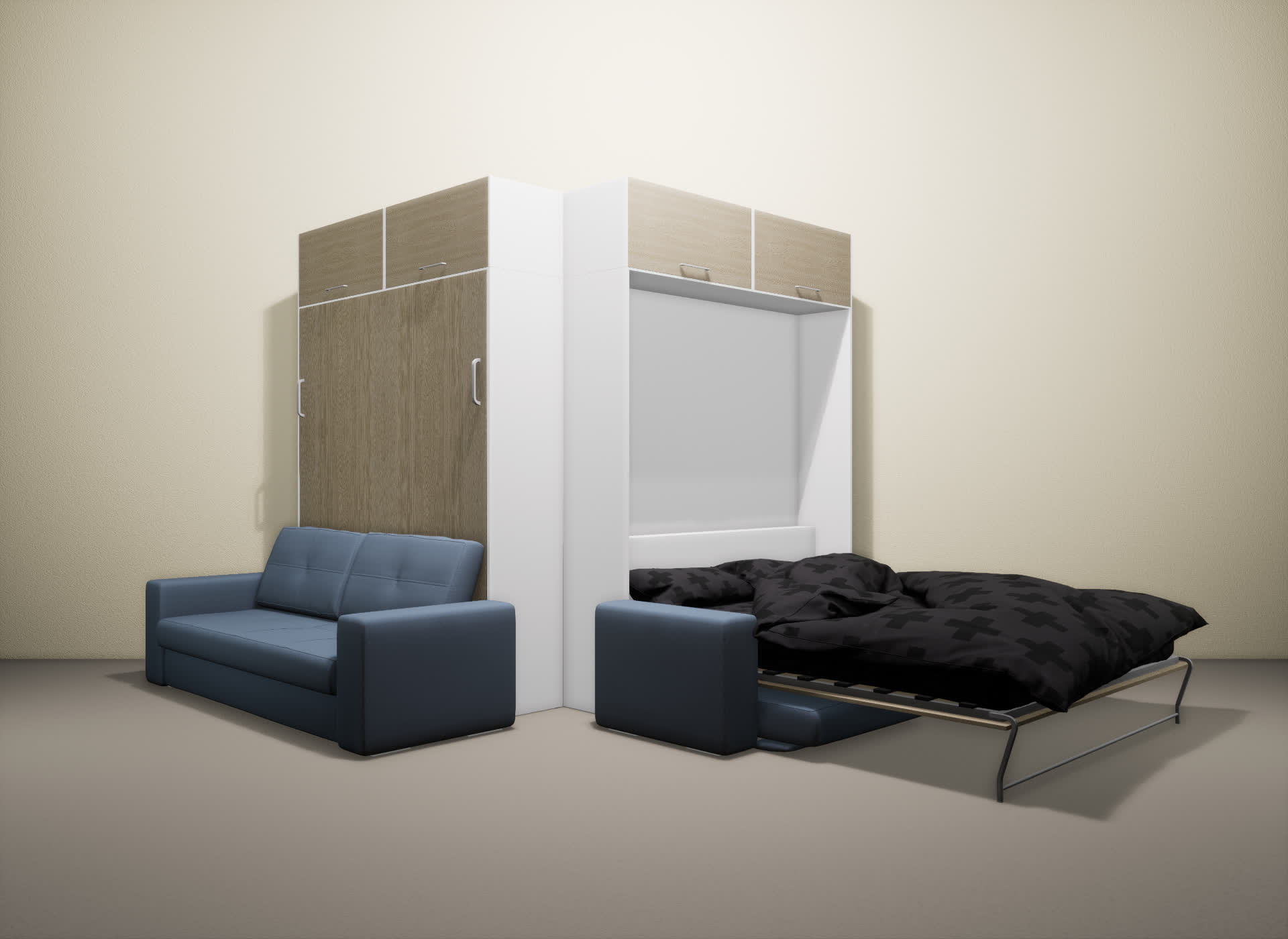 Шкаф-кровать SMART HOME Гамма белый/ясень