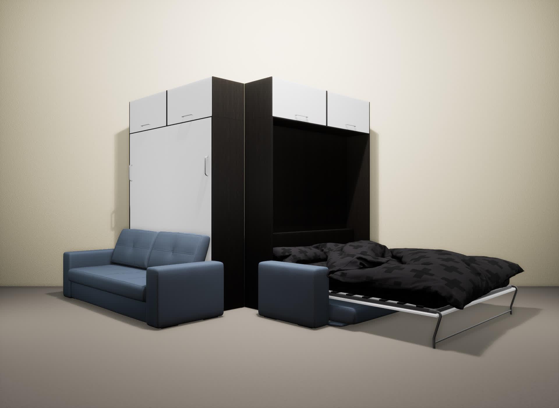 Шкаф-кровать SMART HOME Гамма венге/белый
