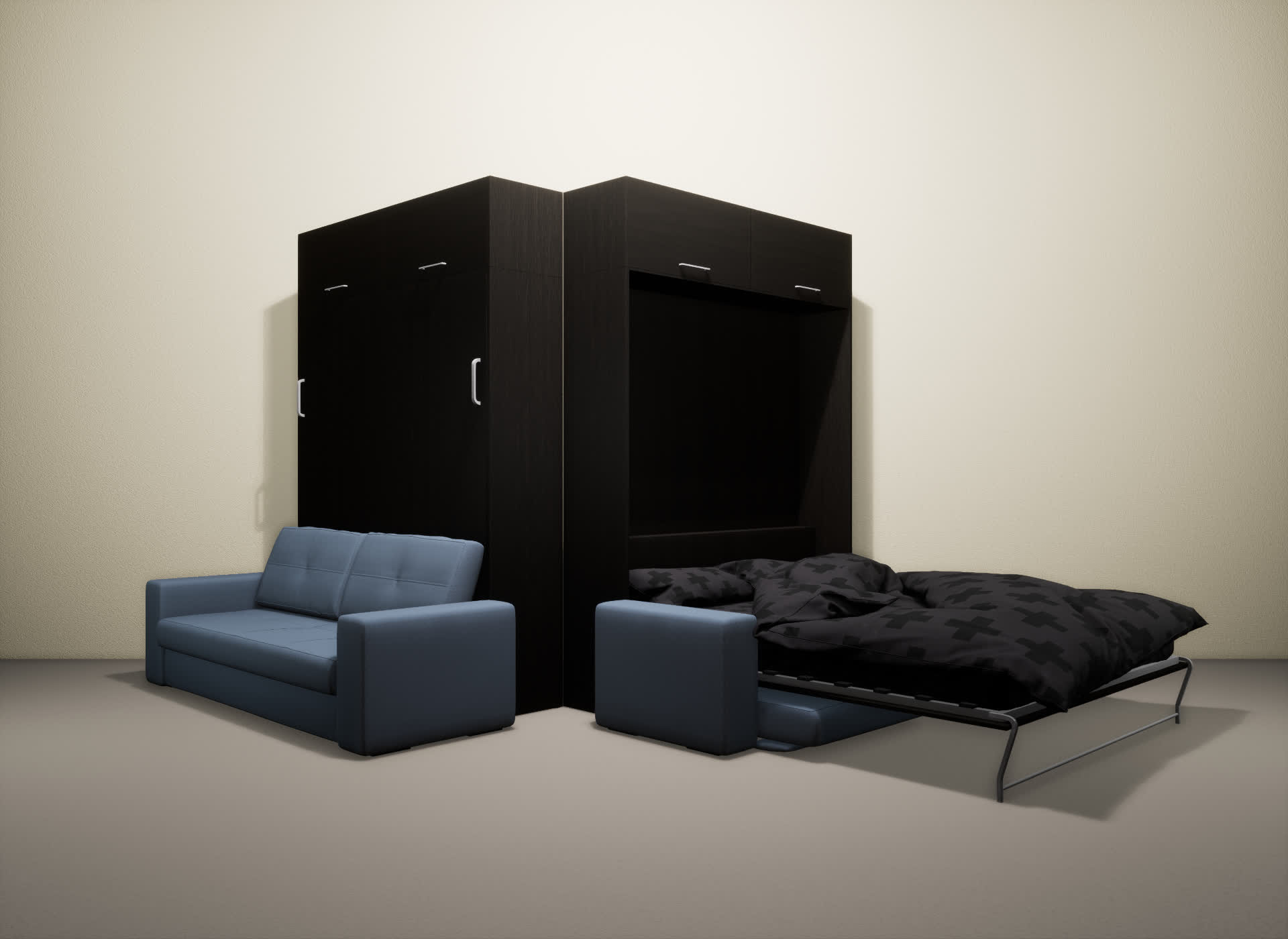 Шкаф-кровать SMART HOME Гамма венге/венге