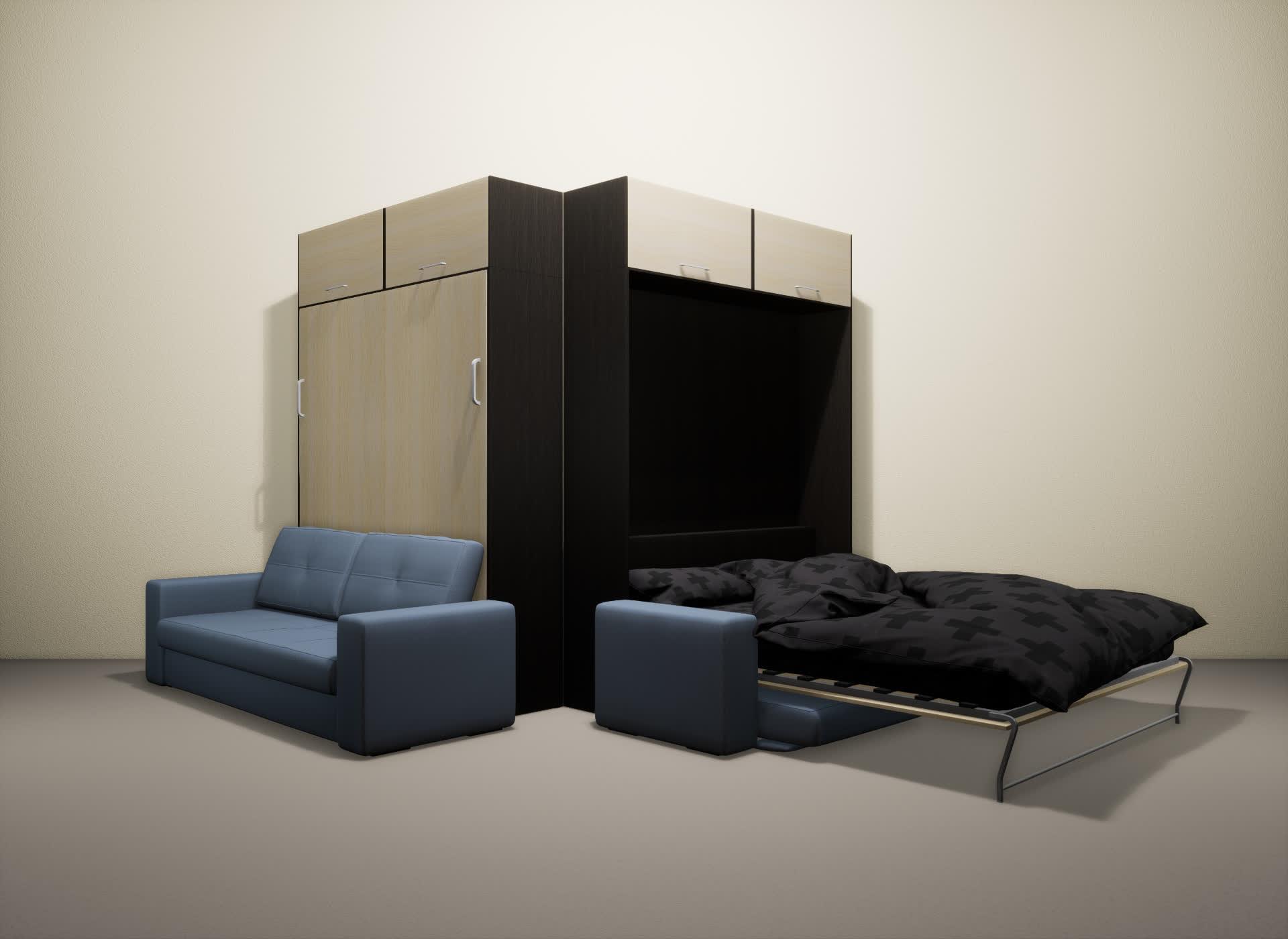 Шкаф-кровать SMART HOME Гамма венге/молочный дуб