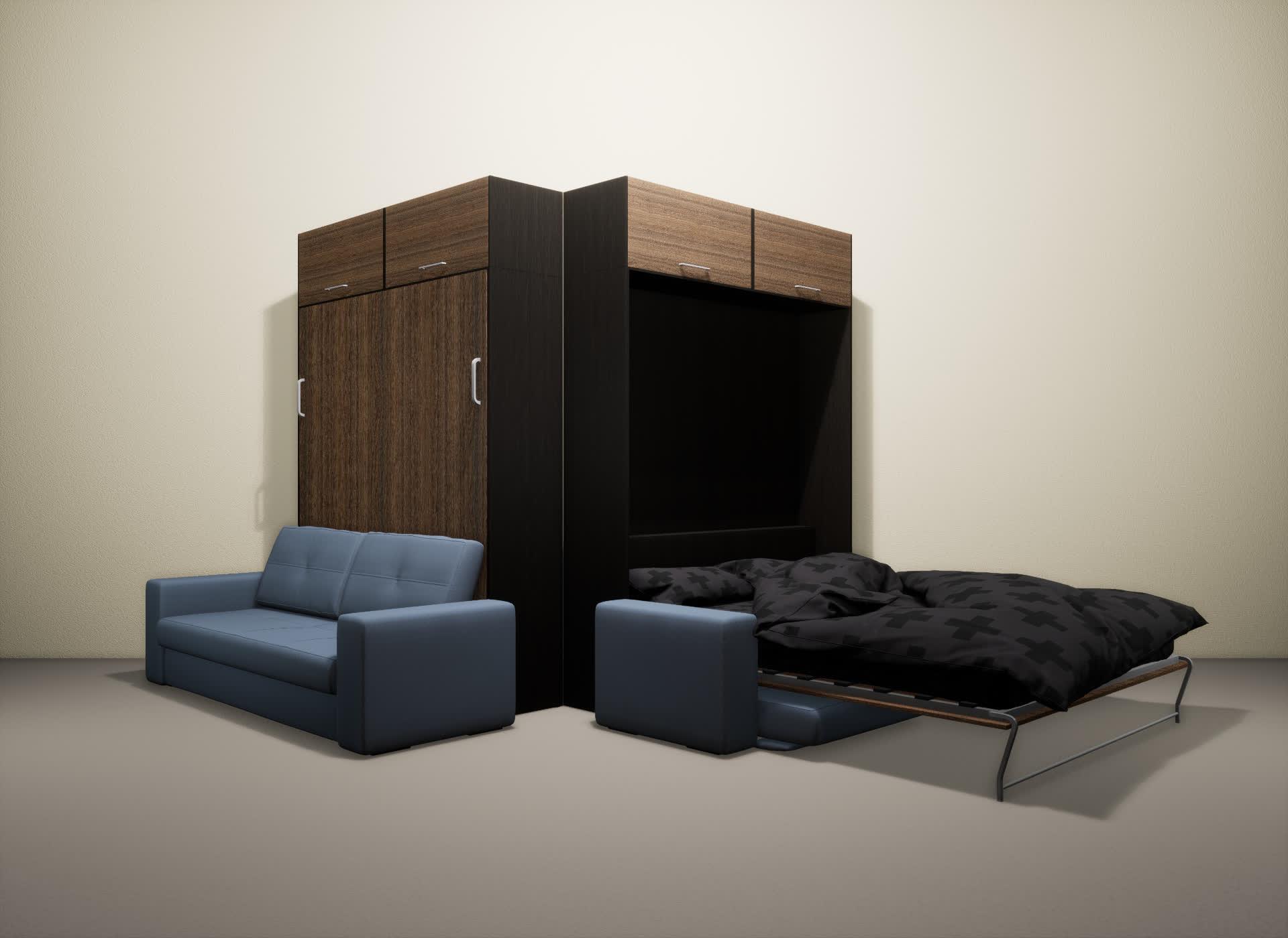 Шкаф-кровать SMART HOME Гамма венге/шамони