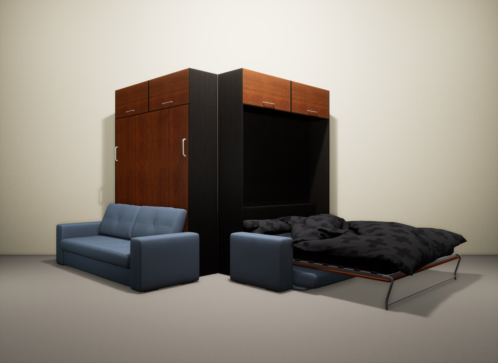 Шкаф-кровать SMART HOME Гамма венге/яблоня