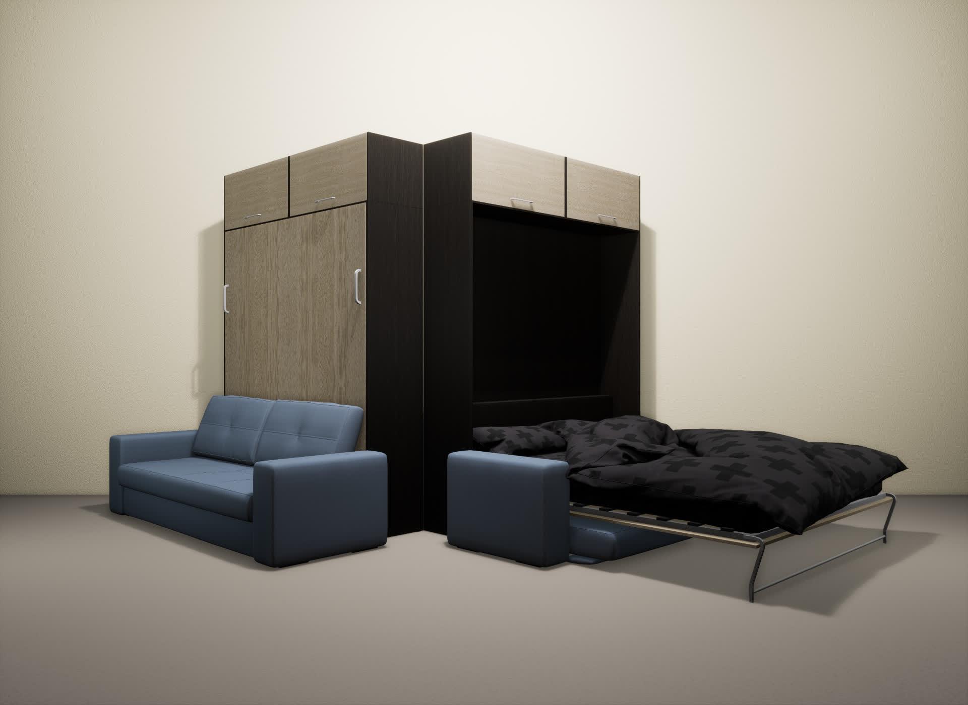 Шкаф-кровать SMART HOME Гамма венге/ясень