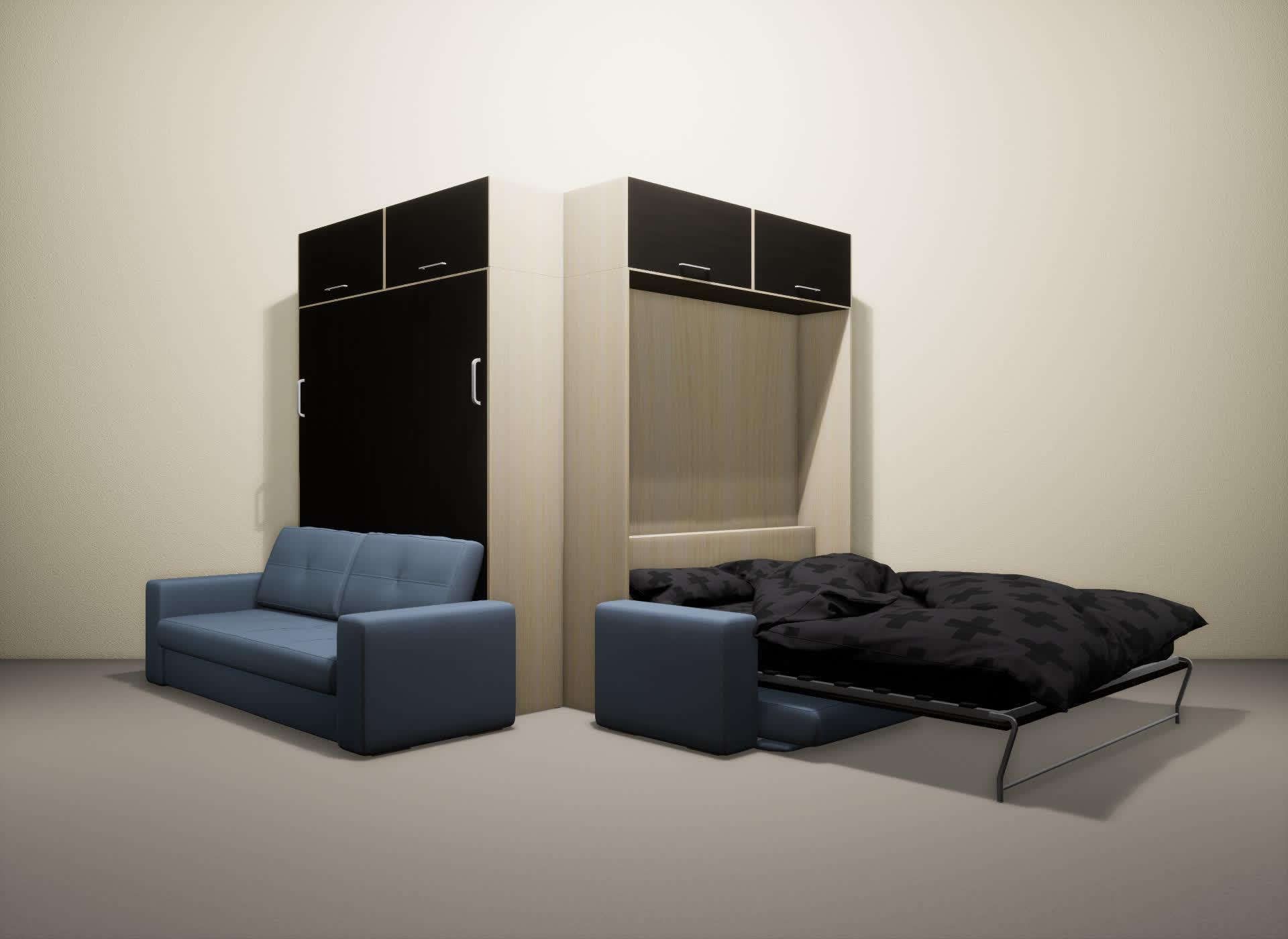 Шкаф-кровать SMART HOME Гамма молочный дуб/венге