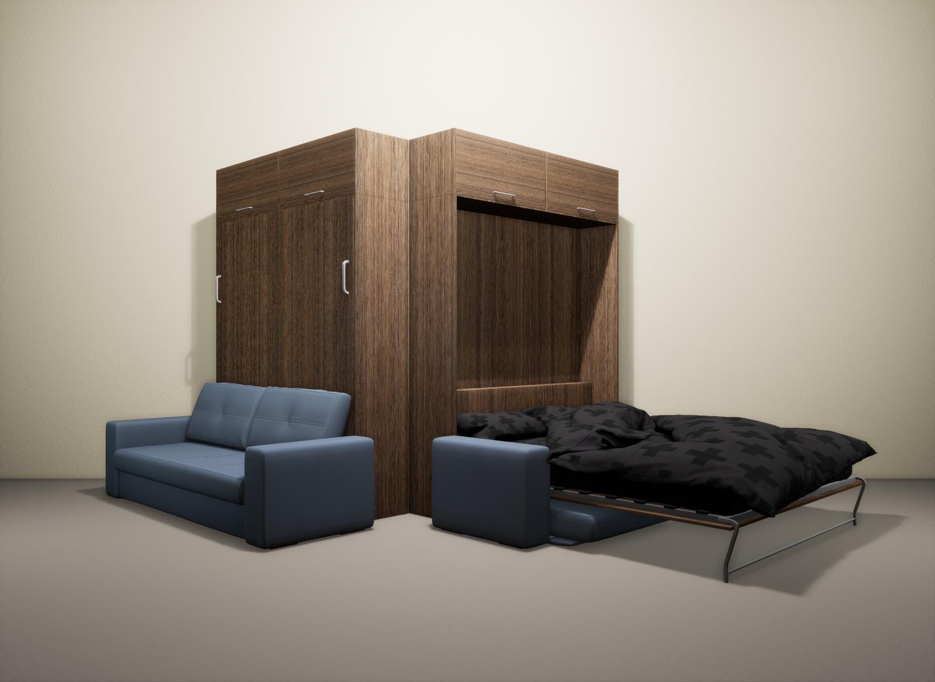 Шкаф-кровать SMART HOME Гамма шамони/шамони