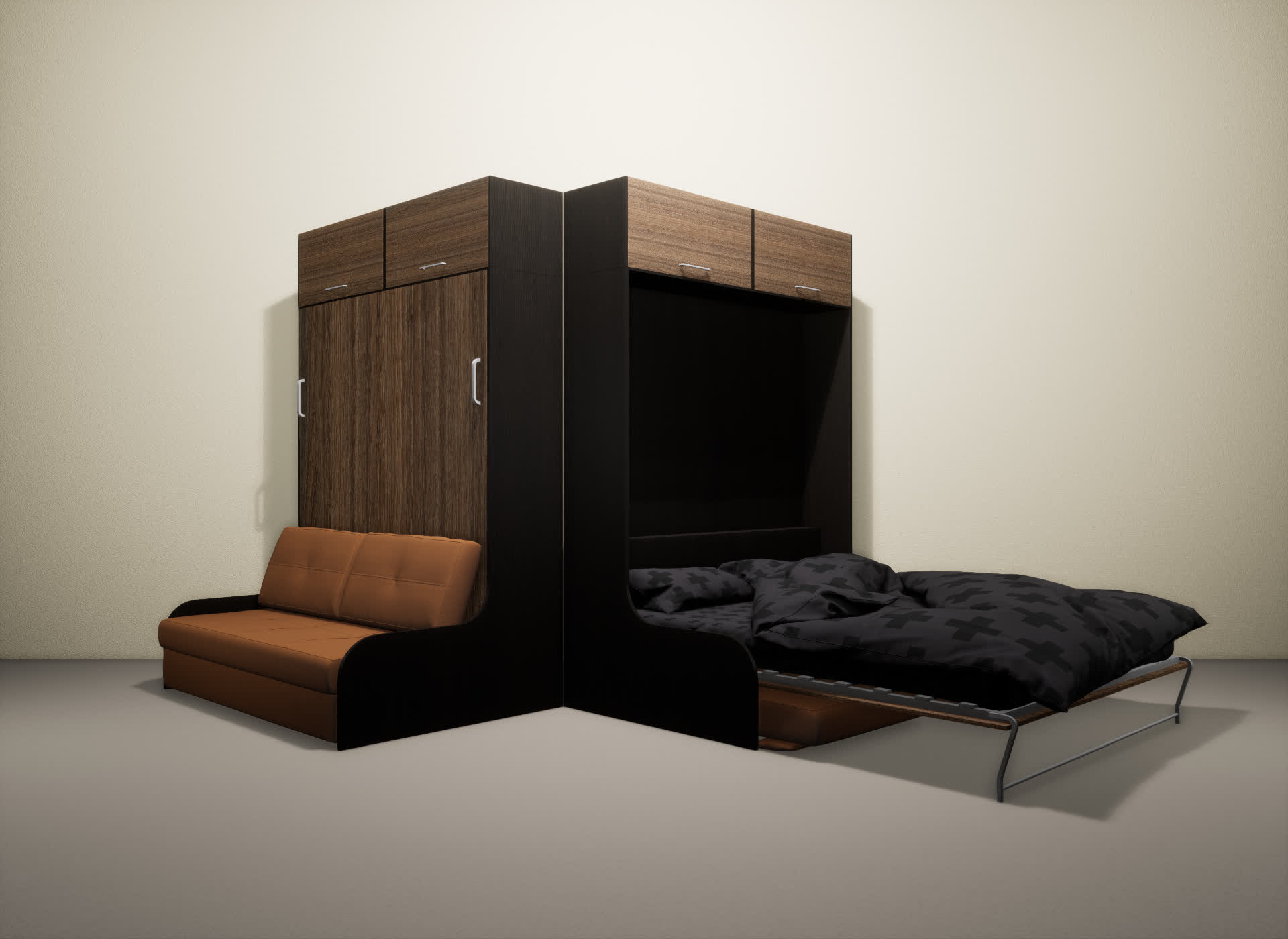 Шкаф-кровать SMART HOME Омега венге/шамони