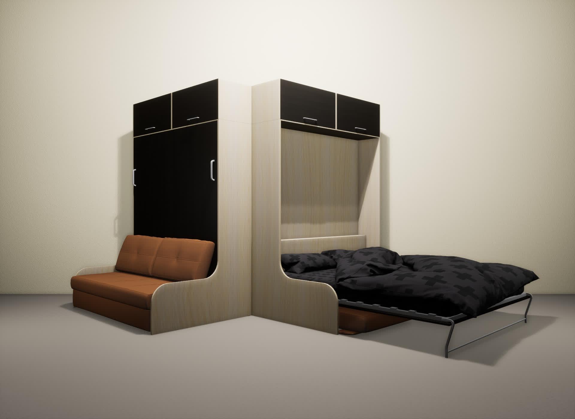 Шкаф-кровать SMART HOME Омега молочный дуб/венге