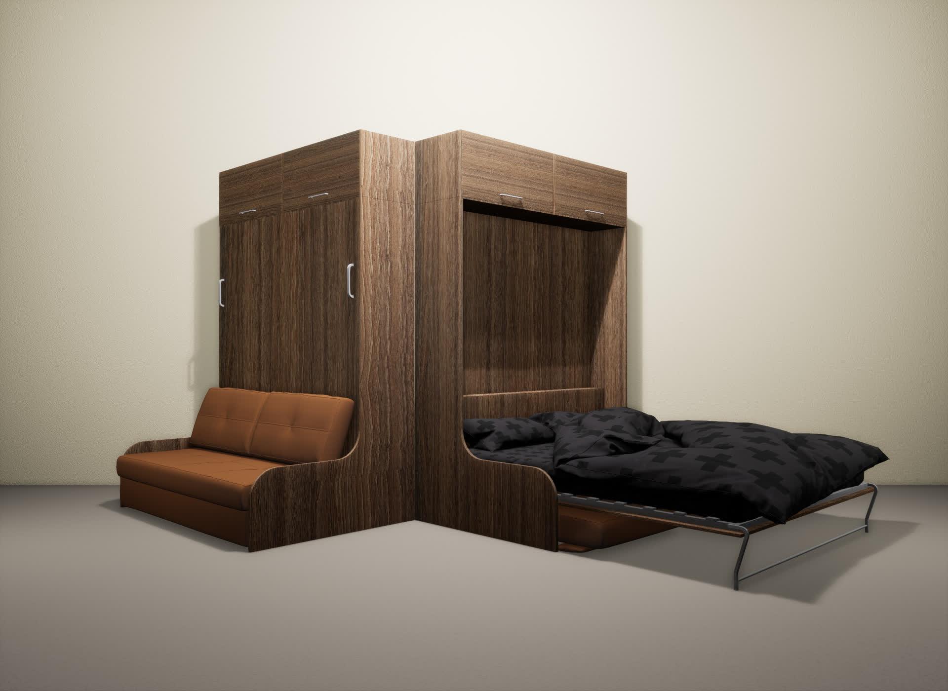 Шкаф-кровать SMART HOME Омега шамони/шамони