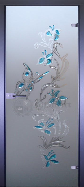 Дверь стеклянная Акма Art-Deсor Бабочка 2