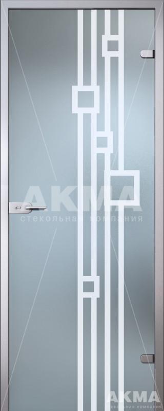 Дверь стеклянная Акма Satin Софи