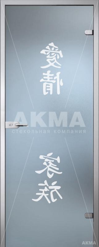 Дверь стеклянная Акма Satin Фуджи