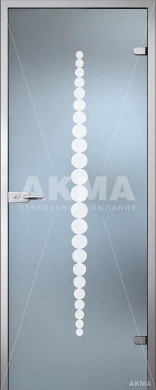 Дверь стеклянная Акма Satin Ротонда