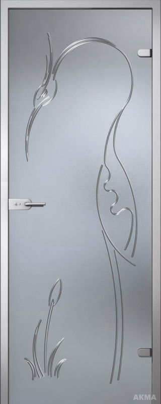 Дверь стеклянная Акма Fantasy Цапля