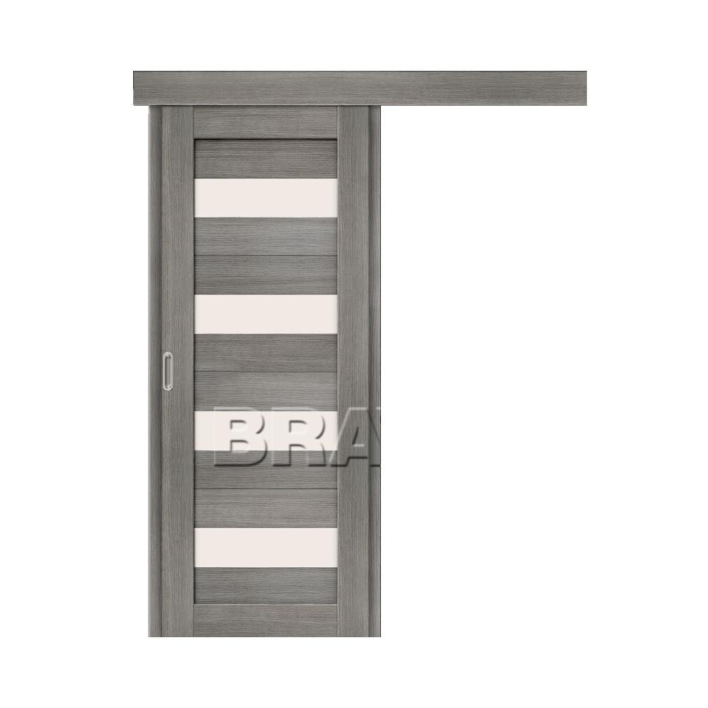 Раздвижная Одностворчатая дверь Bravo Порта-23 Grey Veralinga (Комплект)