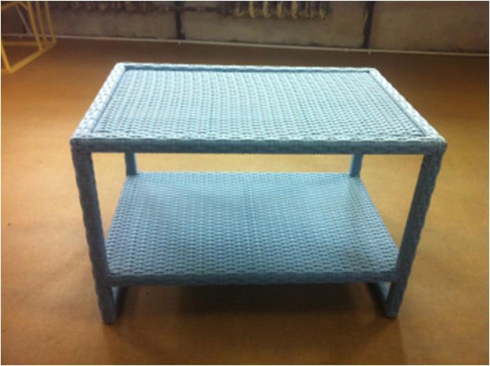 Стол из ротанга Patio Furniture журнальный с оплетенной столешницей