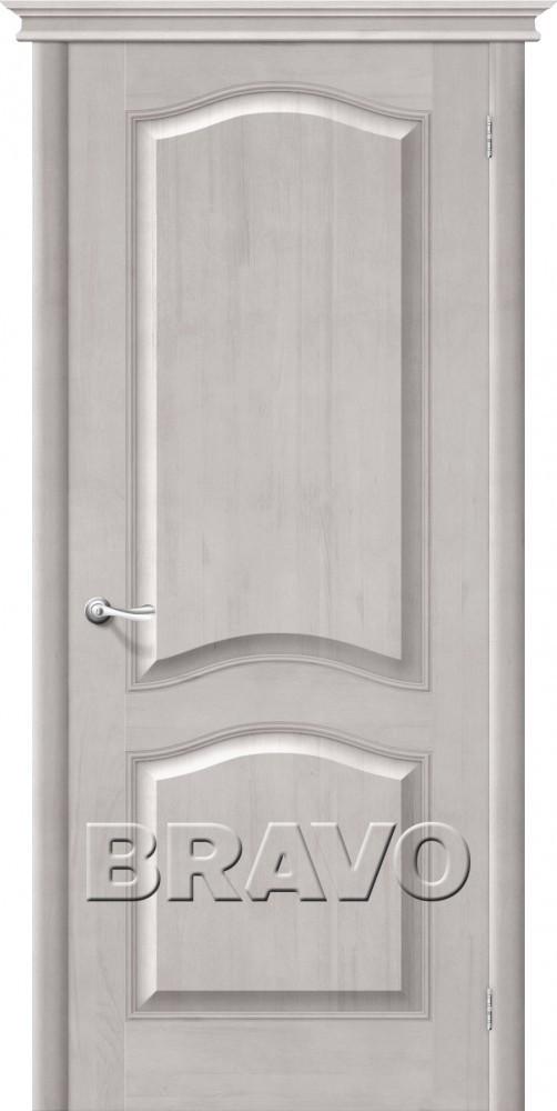 Дверь из массива Bravo М7 Т-07 (Белый Воск) ПГ