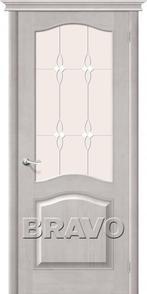 Дверь из массива Bravo М7 Т-07 (Белый Воск) ПО СТ-Полимер
