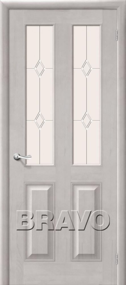 Дверь из массива Bravo М15 Т-07 (Белый Воск) ПО СТ-Полимер