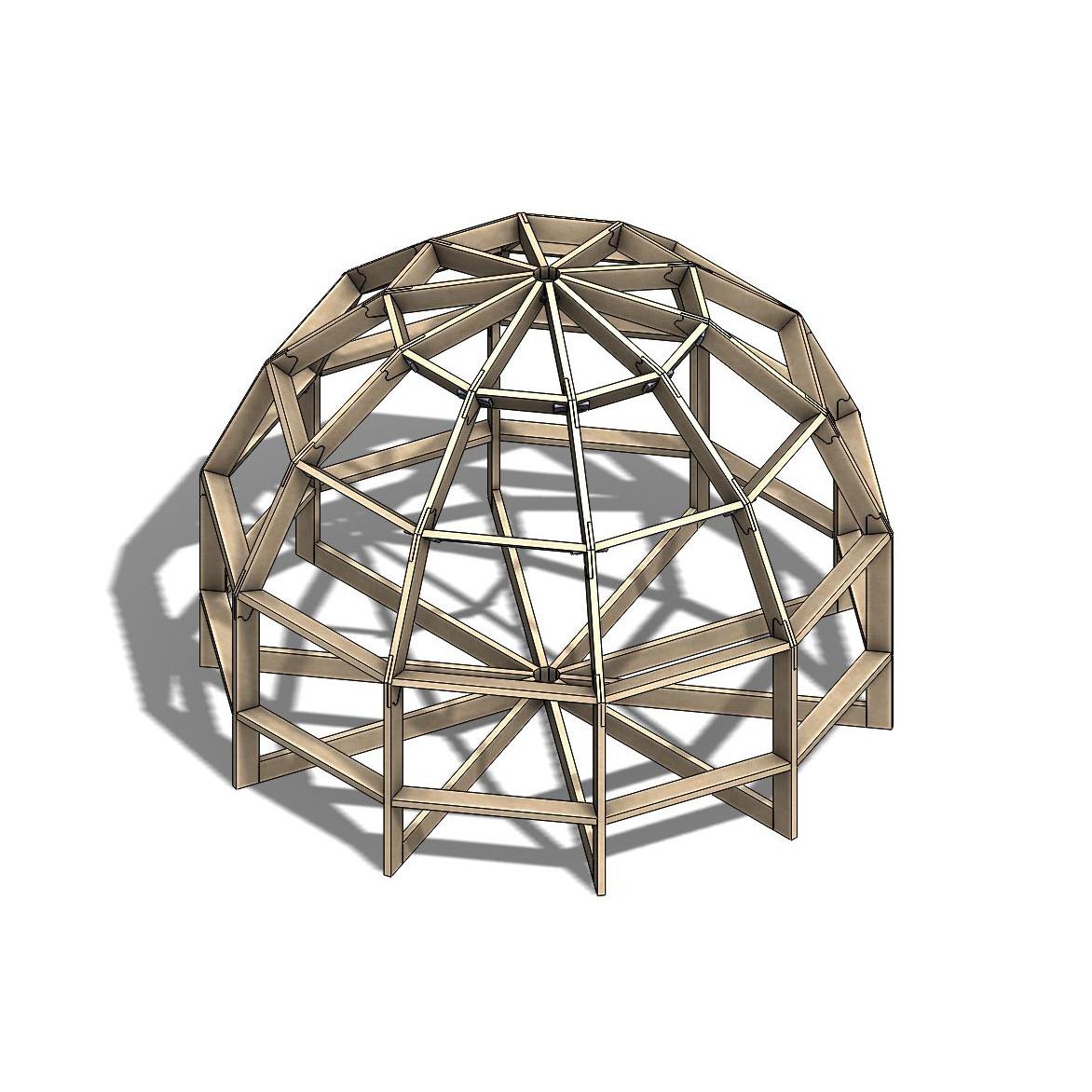 Каркас купольной бани Добросфера модель Z4