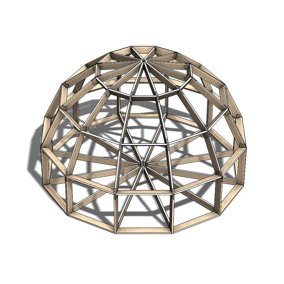 Каркас купольного дома Добросфера модель Z6