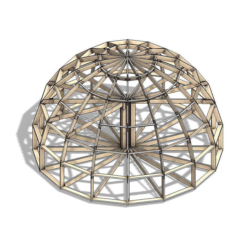 Каркас купольного дома Добросфера модель Z8