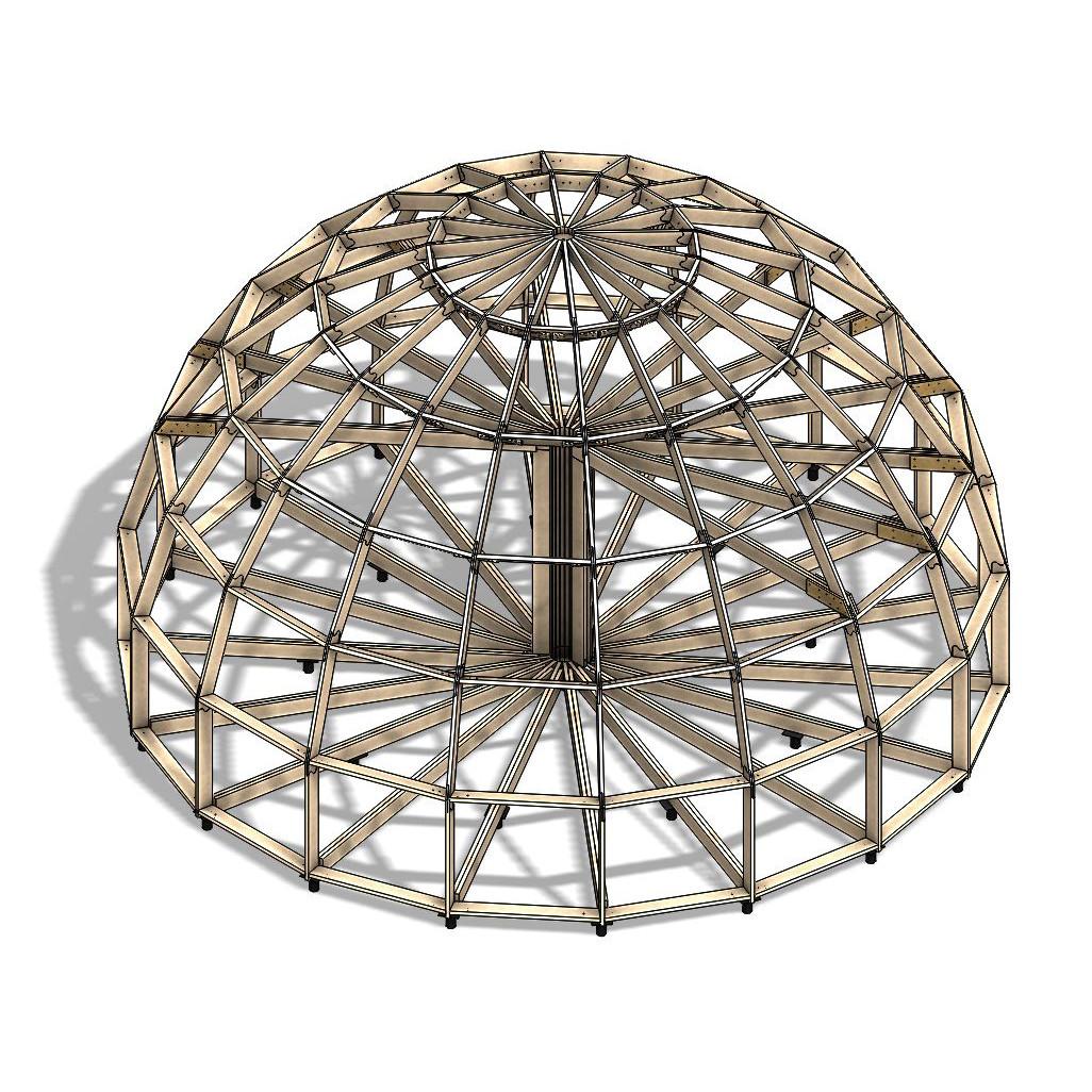 Каркас купольного дома Добросфера модель Z10