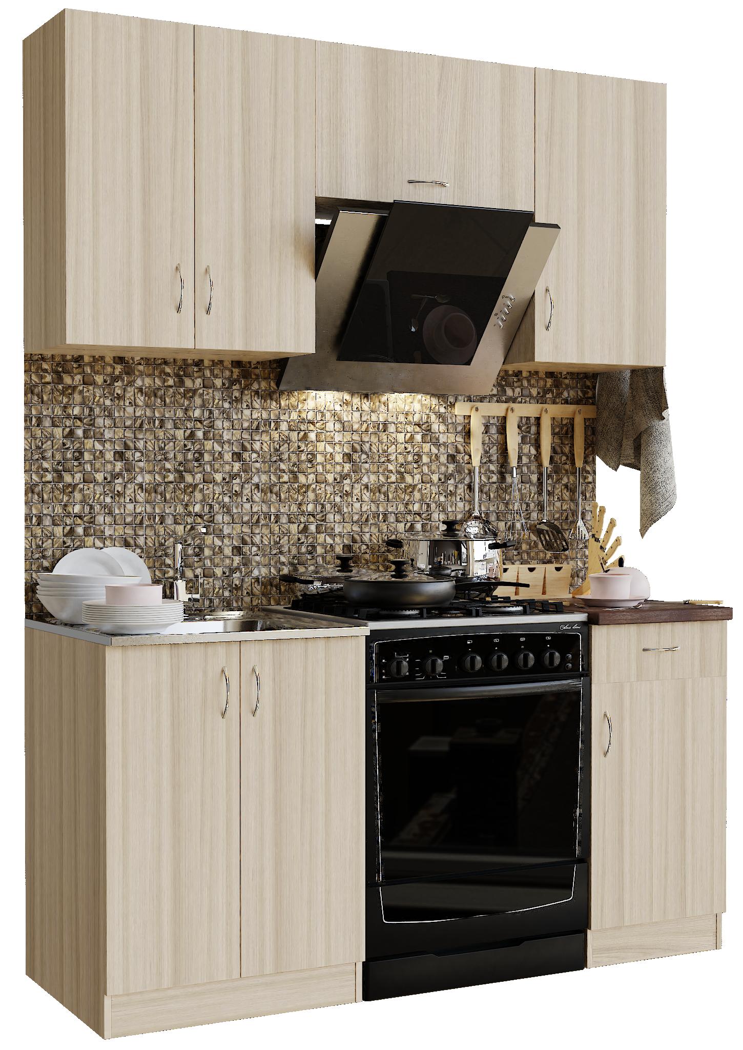 Кухонный гарнитур Sanvut ГК1600-1.1.1 Шимо светлый