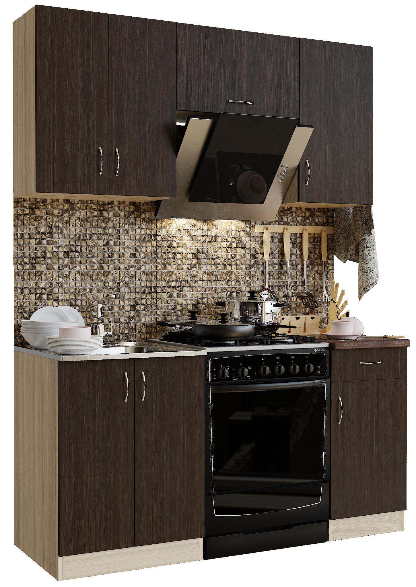 Кухонный гарнитур Sanvut ГК1600-1.3.1 Шимо светлый / Венге