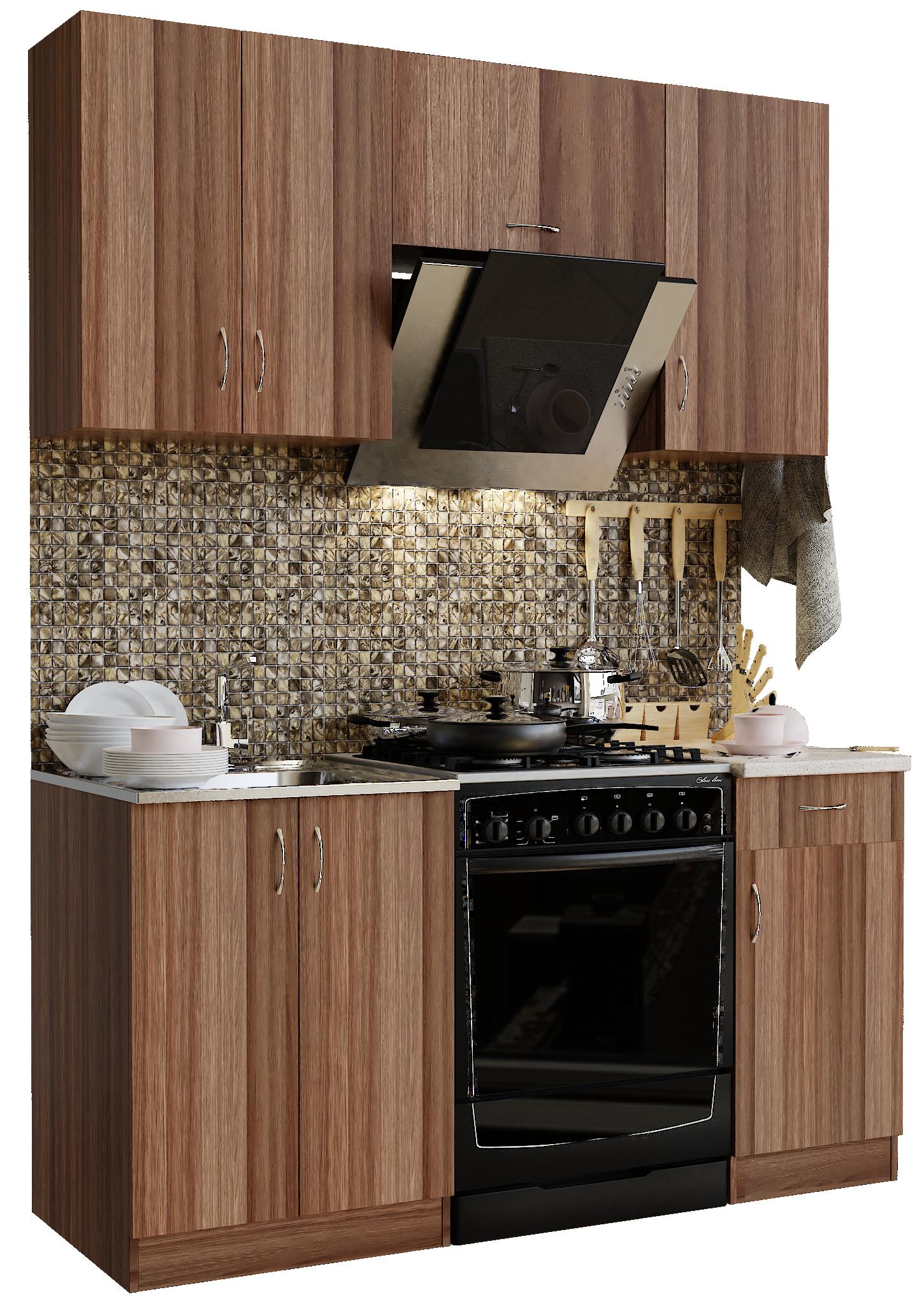 Кухонный гарнитур Sanvut ГК1600 - 2.2.2 Ясень шимо темный