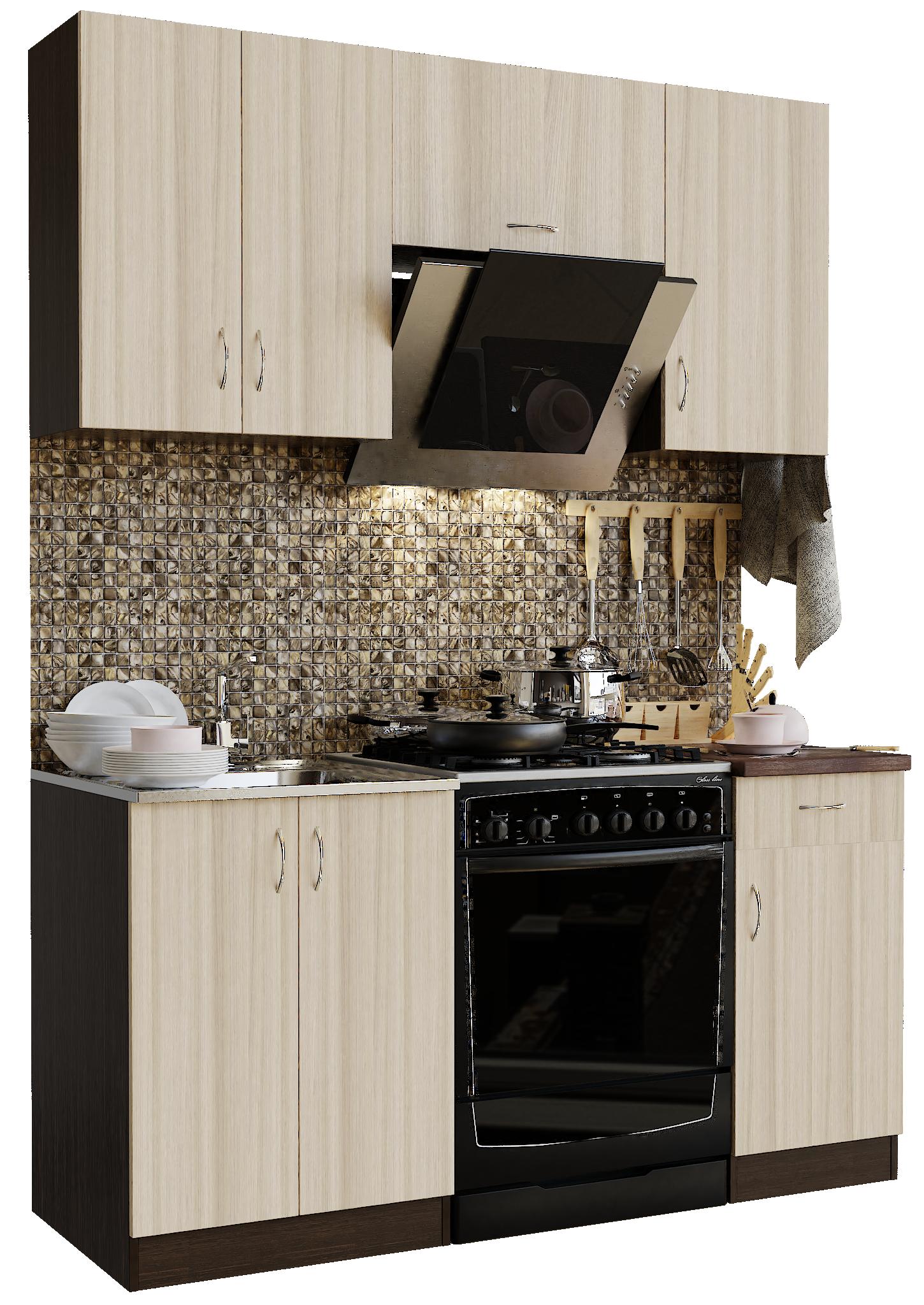Кухонный гарнитур Sanvut ГК1600-3.1.1 Венге / Ясень шимо светлый