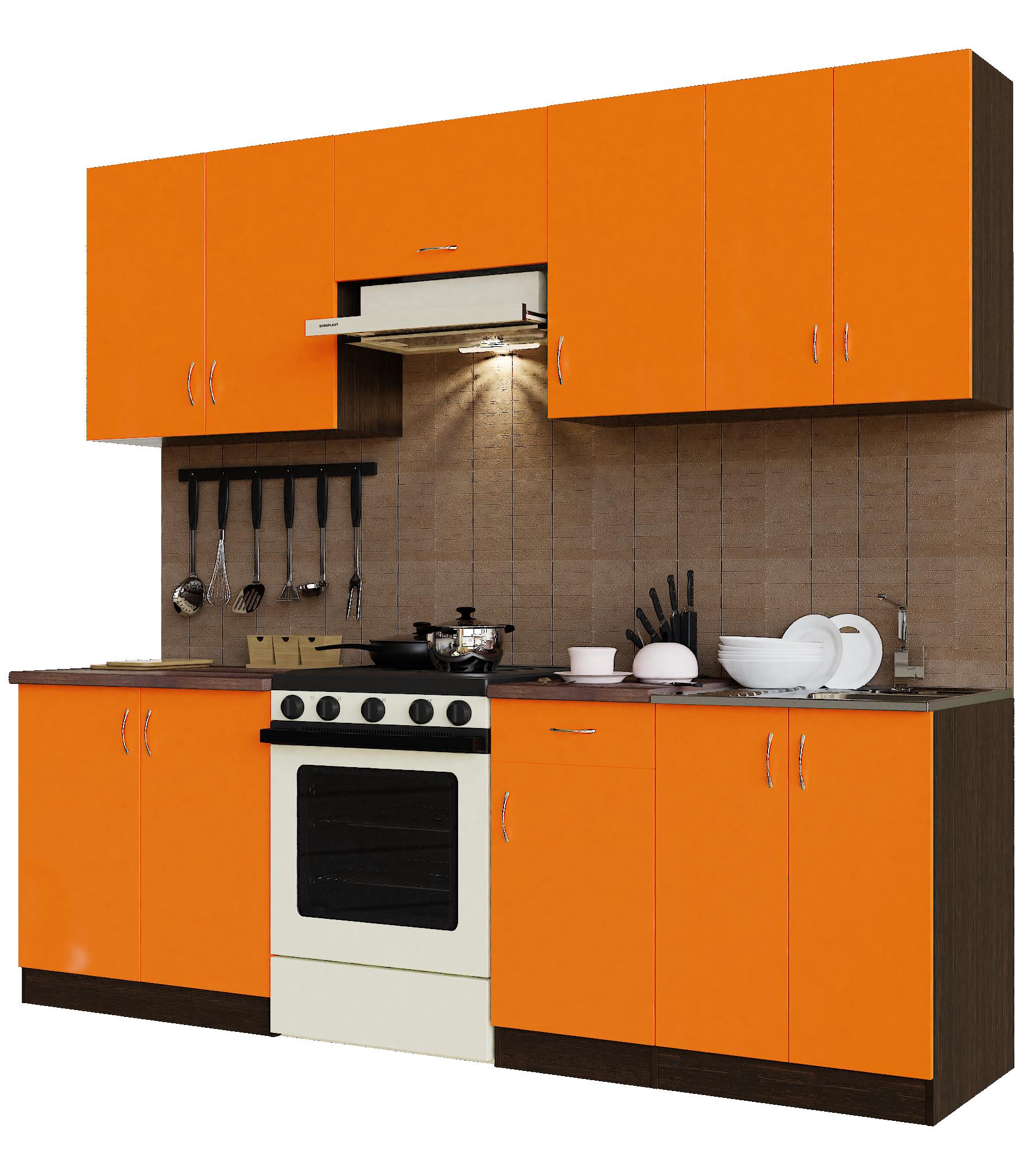 Кухонный гарнитур Sanvut ГК2400-3.13.1 Венге / Оранж (венге)