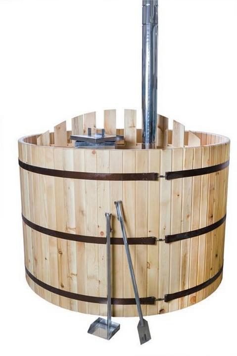 Бочка Фурако FitoNext из кедра с встроенной дровяной печью овальная 2200мм