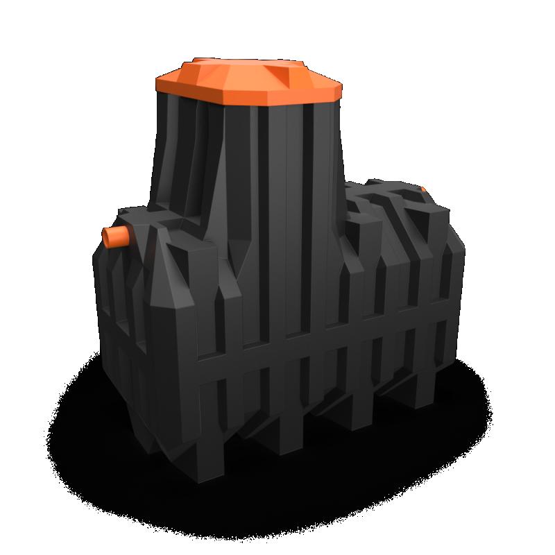 Автономная канализация Ergobox 8 PR в комплекте с сигнализацией