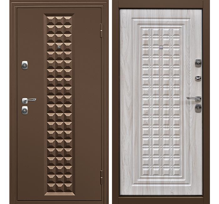 Сейф-дверь Дверной Континент Контур Беленый дуб