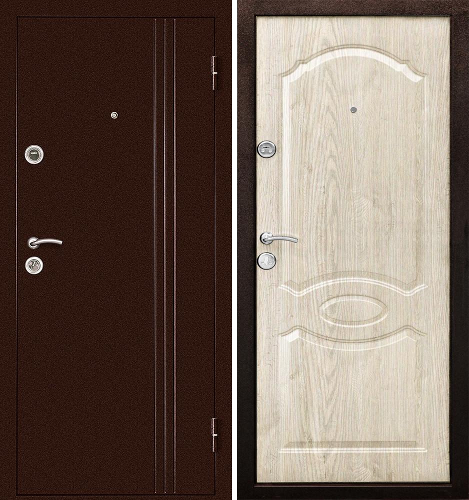 Сейф-дверь Дверной Континент Эконом Экстра Беленый дуб