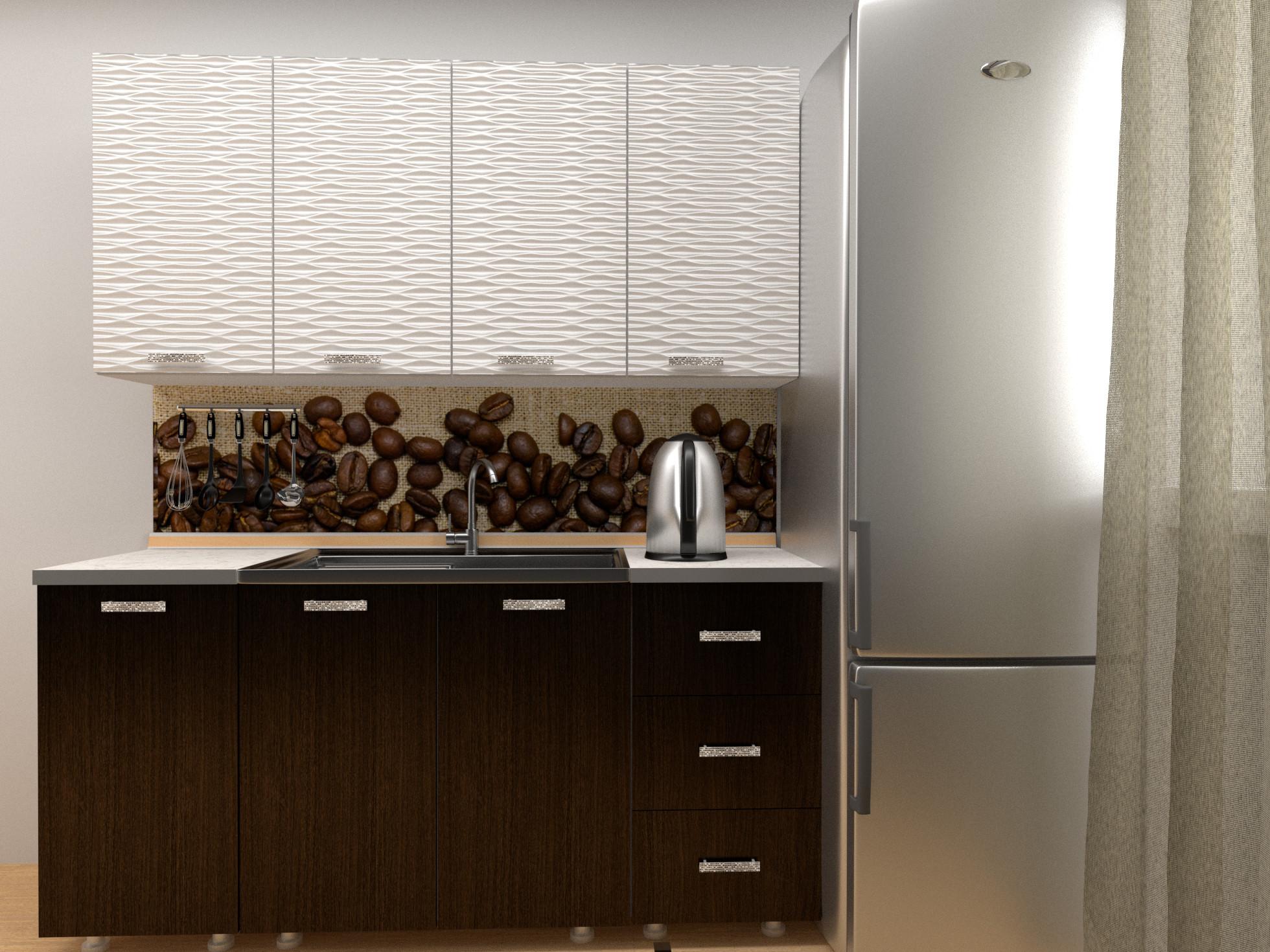 Кухонный гарнитур Ставропольмебель Селена-59 Ясень белый Соты/Венге темный с мойкой