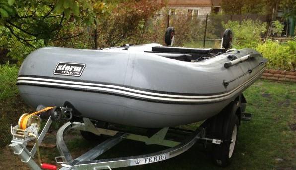 Килевая лодка Aqua Storm Stk 330-40 EVOLUTION Серая