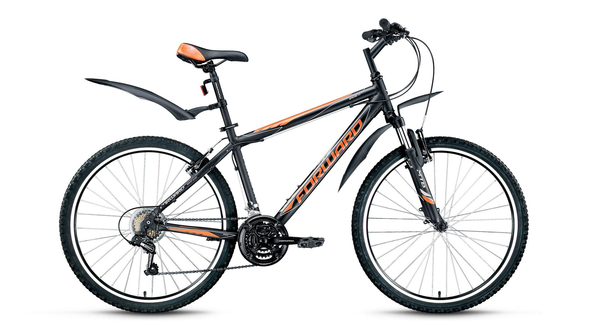 """Горный велосипед Forward Apache 1.0 2017 рама 21"""" черный матовый"""