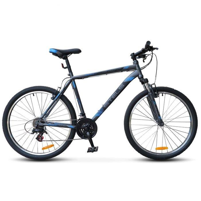 """Горный велосипед Stels Navigator-500V 2017 рама 16"""" антрацитовый/синий"""