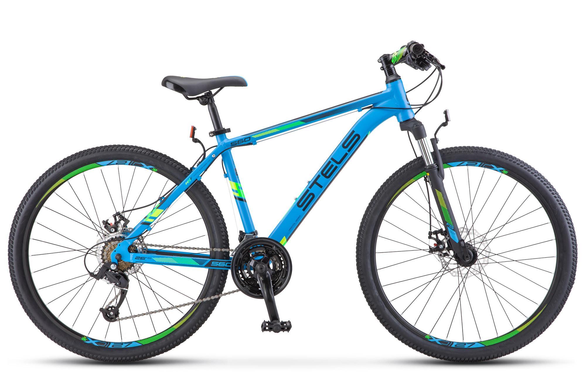 """Горный велосипед Stels Navigator-560MD 2018 V010 рама 17"""" синий"""