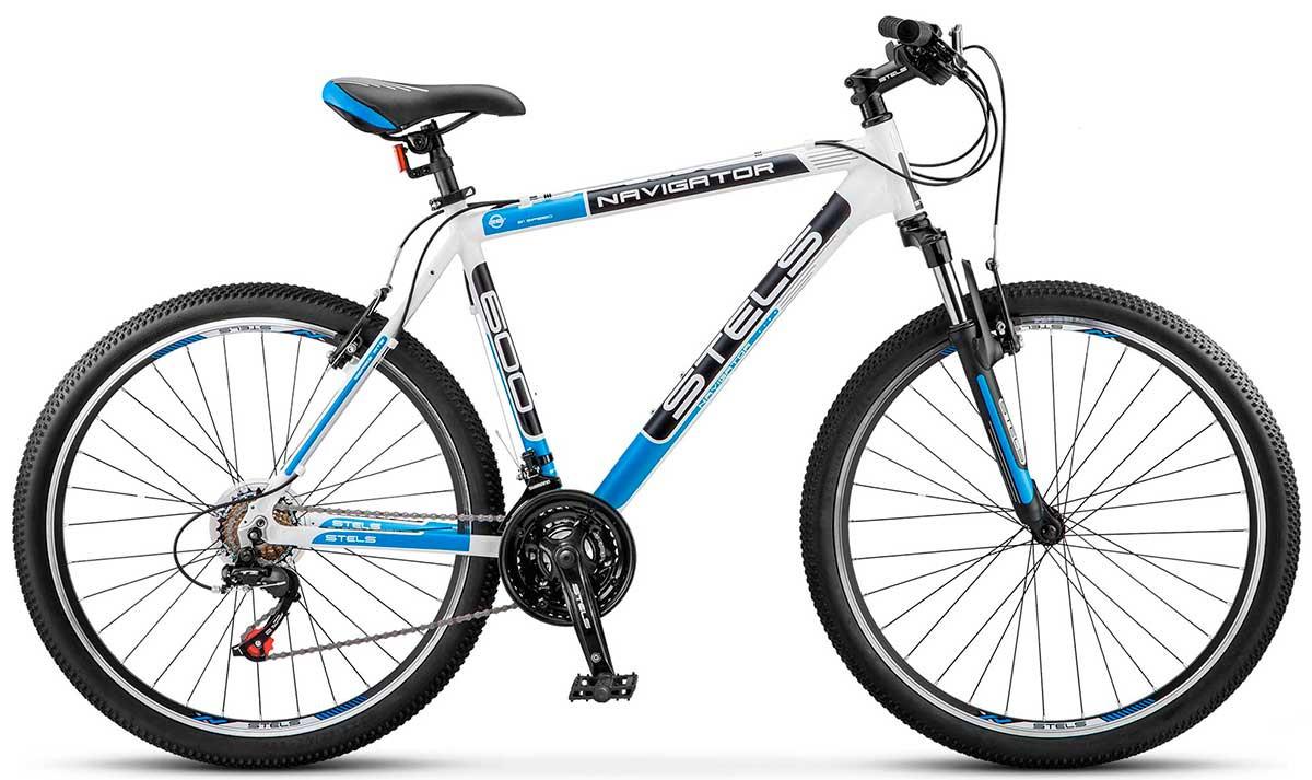 """Горный велосипед Stels Navigator-600V 2017 V030 рама 16"""" белый/черный/синий"""