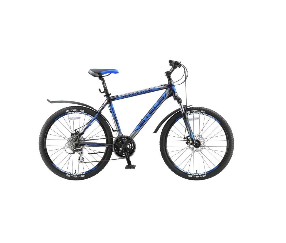 """Горный велосипед Stels Navigator-650MD 2017 V030 рама 16"""" черный/синий"""