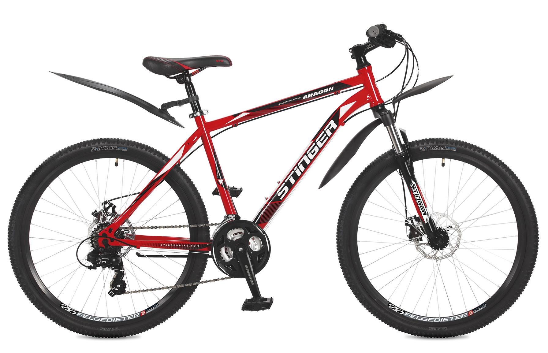 """Горный велосипед Stinger Aragon 2017 рама 18"""" красный"""