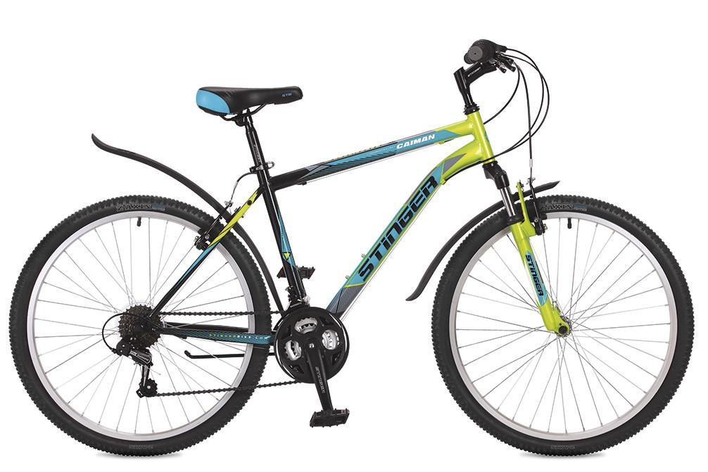 """Горный велосипед Stinger Caiman 2017 рама 14"""" зеленый"""