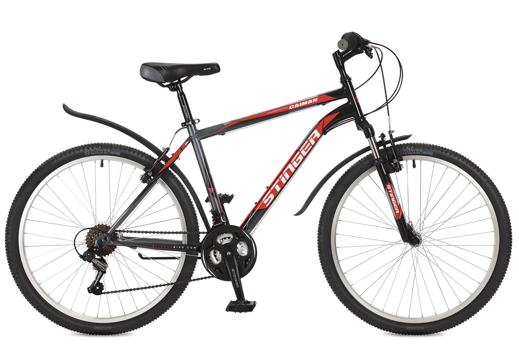 """Горный велосипед Stinger Caiman 2017 рама 20"""" черный"""