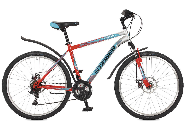 """Горный велосипед Stinger Caiman D 2017 рама 18"""" оранжевый"""