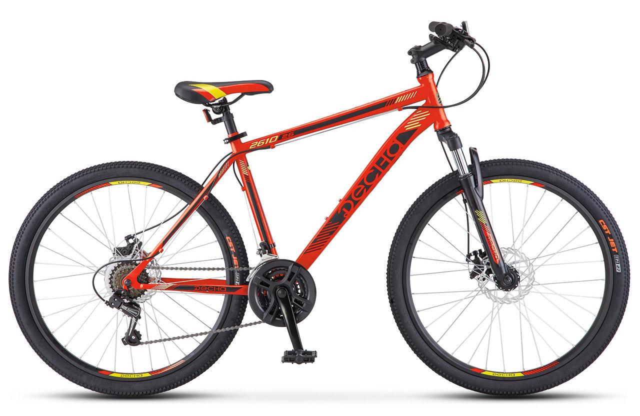 """Горный велосипед Десна-2610 MD 2018 рама 16"""" красный/черный"""