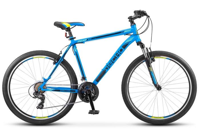 """Горный велосипед Десна-2610 V 2018 рама 16"""" синий/черный"""