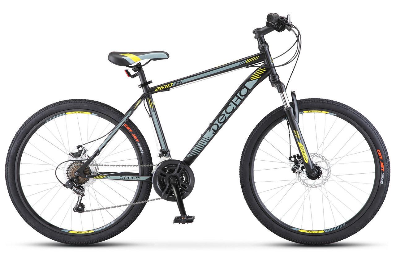 """Горный велосипед Десна-2610 MD 2018 рама 16"""" черный/серый"""