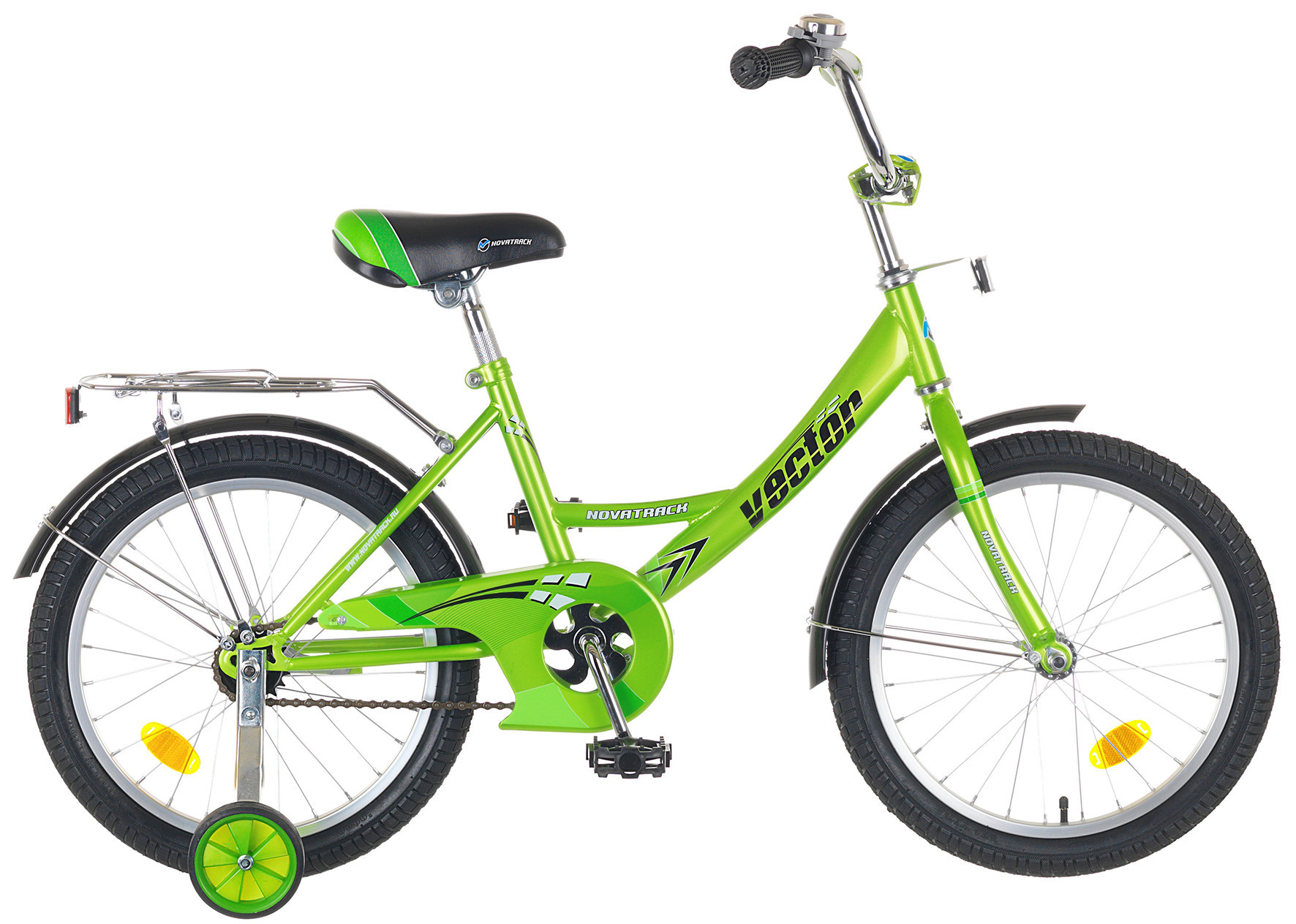 """Детский велосипед Novatrack Vector 14"""" зеленый"""